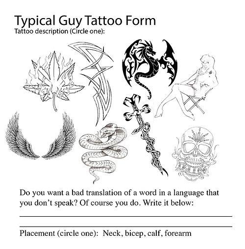 Typical Guy Tattoos Wissenschaft Forscher