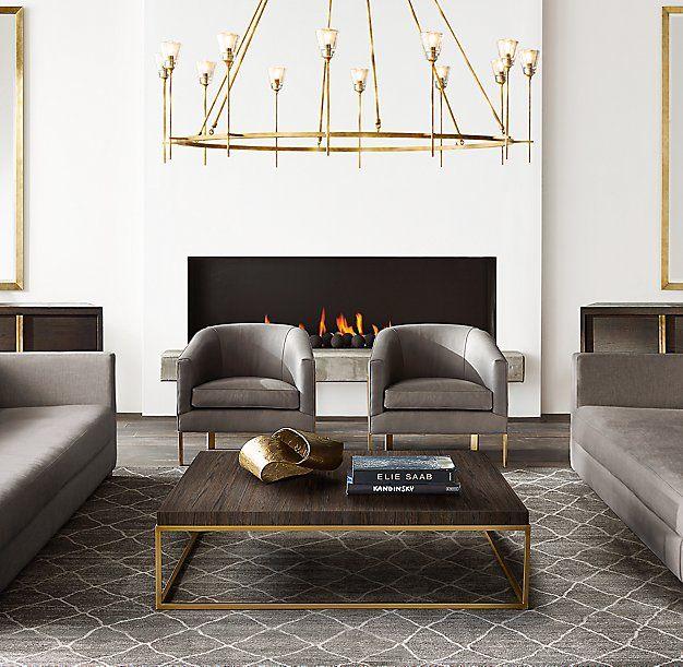 """70 Best Online Furniture Stores: RH Modern's Torche De Verre Round Chandelier 70"""":The Torch"""