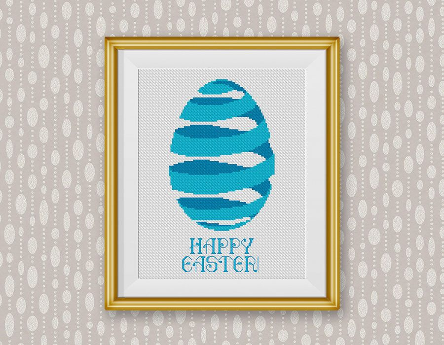 Bogo free easter cross stitch pattern happy easter sign gift easter cross stitch pattern happy easter sign gift easter egg bunny negle Images