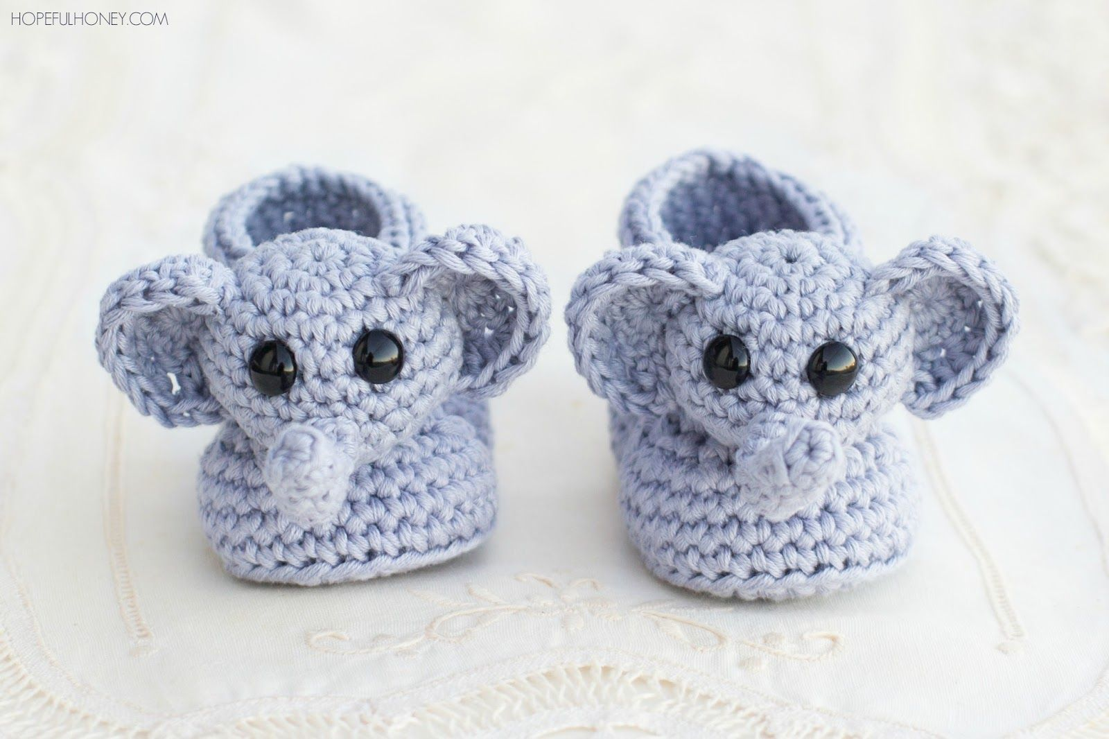 Ellie the elephant baby booties free crochet pattern elephant ellie the elephant baby booties free crochet pattern bankloansurffo Image collections