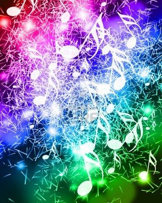Colorful Background With Some Music Notes On It Colorful Backgrounds Music Notes Music Art