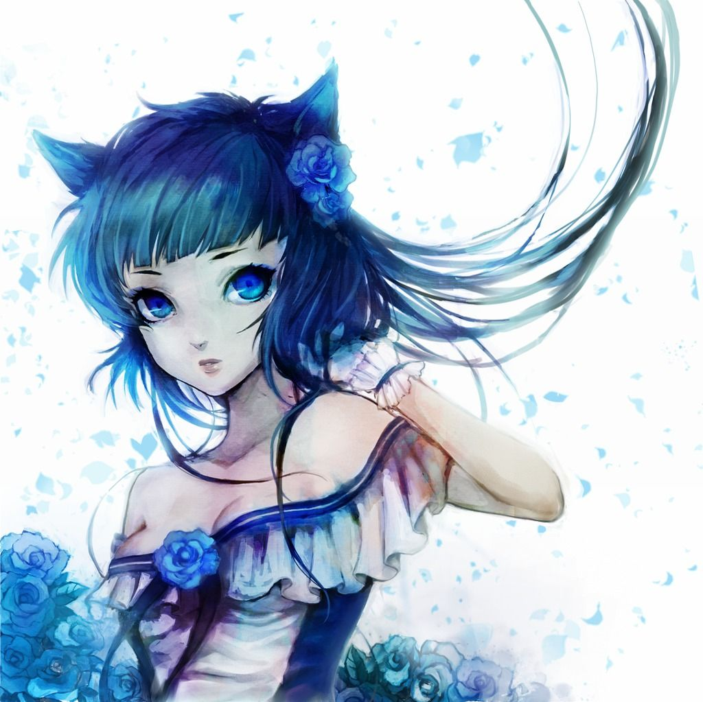 Another cat girl anime and art anime pretty anime - Anime kitty girl ...