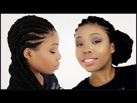 Magnificent Ghana Braids Invisible Cornrow Braids Hairstyle Tutorial Part 1 Hairstyles For Women Draintrainus
