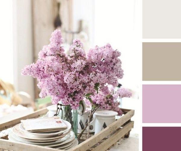 farben farbtyp test flieder strauß farbkombinationen schattierung ...