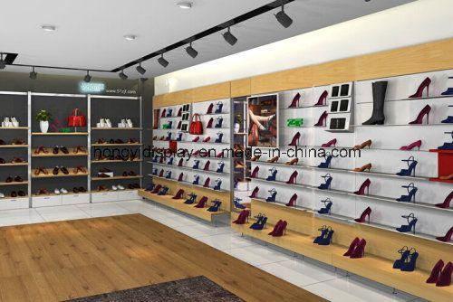 9f2615a0afca4 Présentoir de magasin au détail de chaussures de femmes photo sur ...