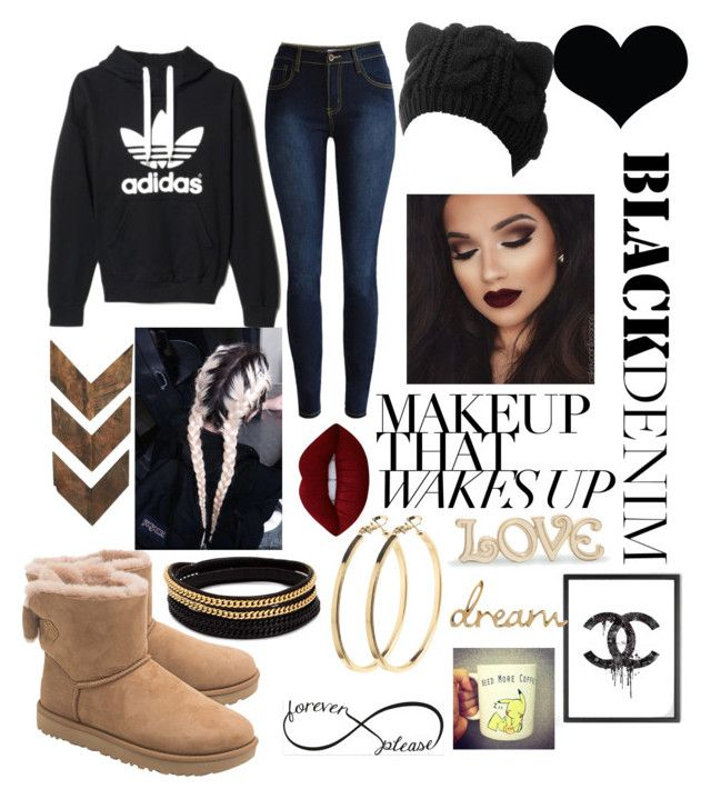 """""""💧⛄❄"""" by nataliga ❤ liked on Polyvore featuring UGG, WALL, adidas, Vita Fede, Lime Crime, Pieces, Lenox and Chanel"""