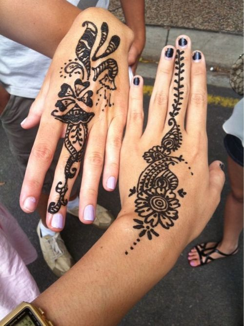 Temporary Tattoo Ink Like Henna: Henna Tattoo Tumblr - Google Search