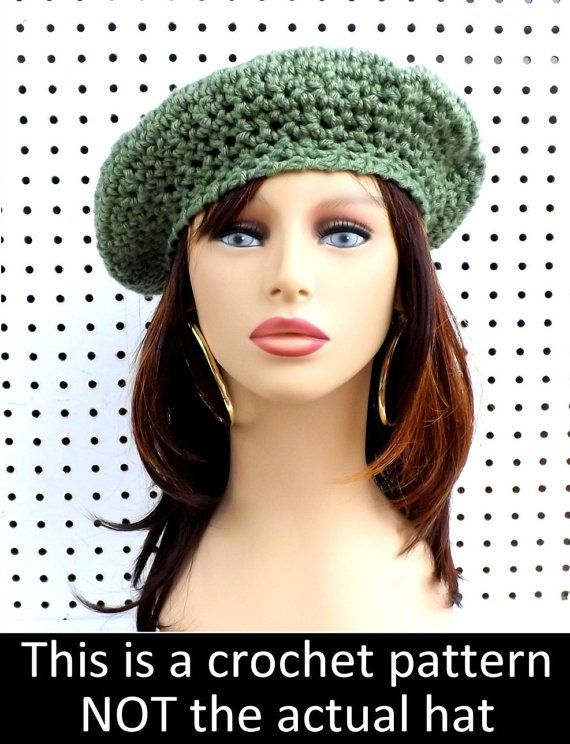 Crochet Pattern Hat Womens Crochet Hat Pattern Crochet Beret Easy