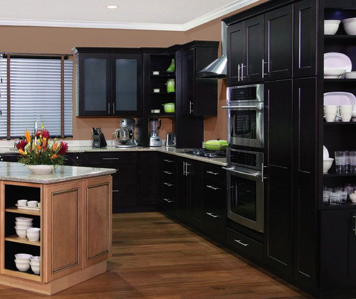Kitchen Cabinets Java Color homecrest cabinets door style: dover wood: maple finish: java