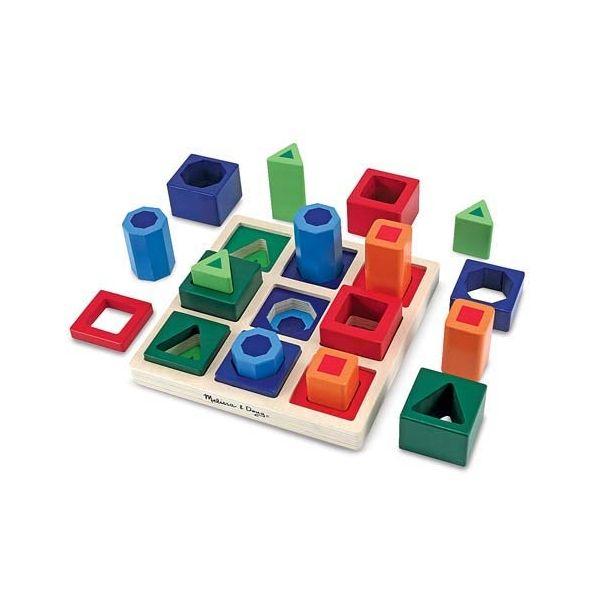 Montessori juego Para Años Vivo En Secuencia Formas 3 Clasificar uZiXPk