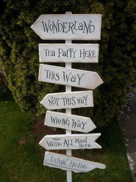 Fairy tale & Storybook signpost signs School reading corner Wedding ...