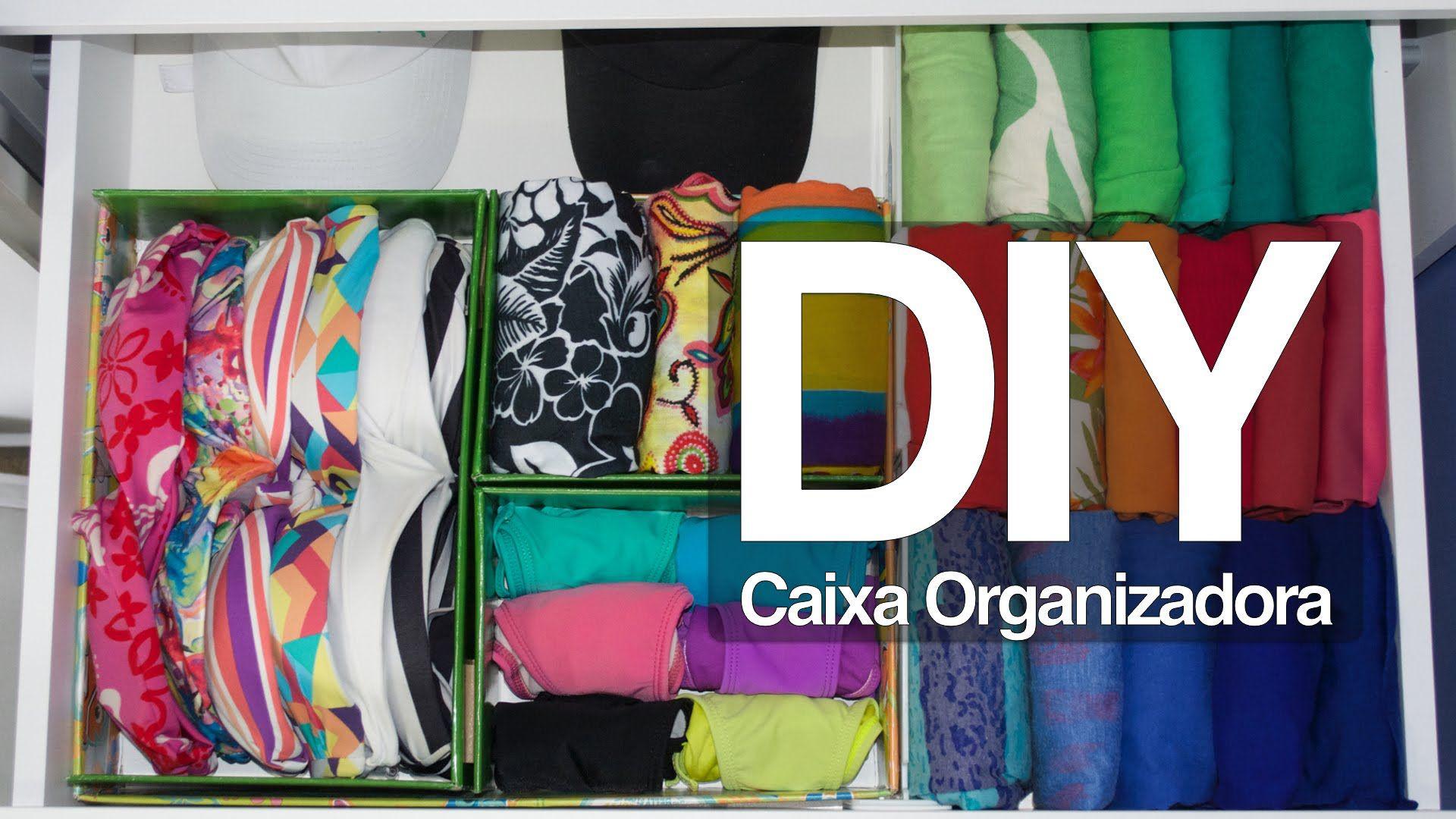 Com uma caixa de camisa, você consegue fazer um organizador para gavetas muito fácil! Veja mais em http://www.tuorganizas.com/2015/03/diy-caixa-divisoria-par...