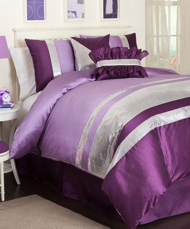 Take a look at this Purple Jewel Juvy Comforter Set by Triangle Home Fashions on #zulily today!