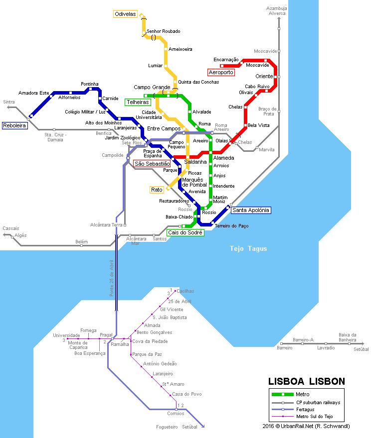 LISBON Public Transport Page SkyscraperCity Transports - Portugal map lisbon to algarve