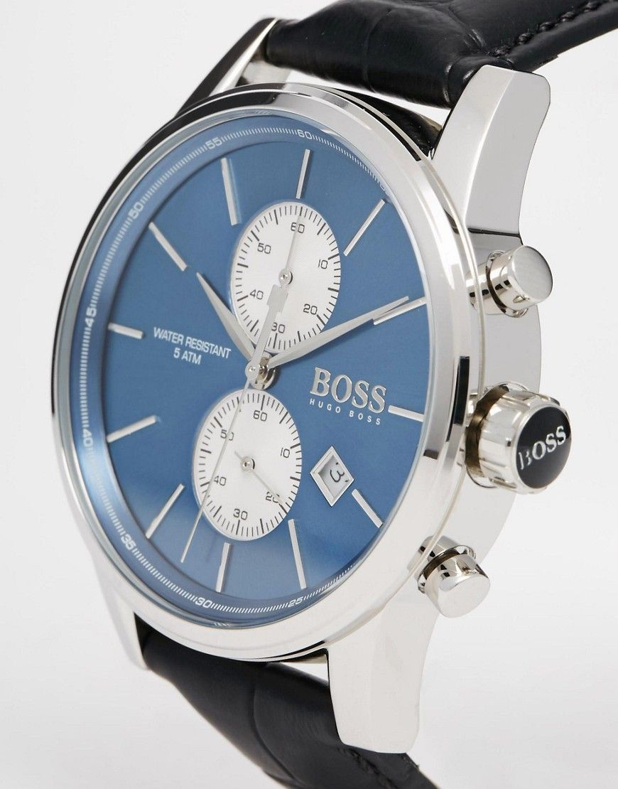 Image 2 of Hugo Boss Jet Chronograph Leather Strap Watch 1513283