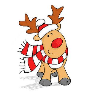 Christmas Cartoon Cartoon Christmas Decorations Erwinnavyanto In Reindeer Drawing Cartoon Reindeer Christmas Reindeer