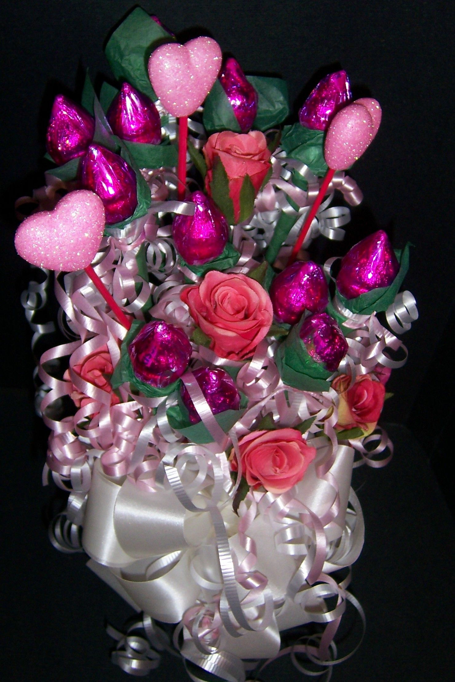 Hershey Kiss Rose Candy Bouquets By Suzys Wrap Shack Suzys Wrap