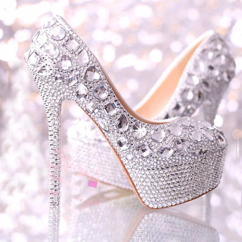 Low Price Guarantee2015 wedding shoes women high heels crystal ...