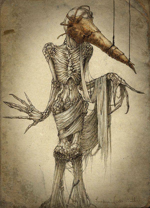 Silenters (COMA) on Behance   Art   Creepy drawings, Creepy