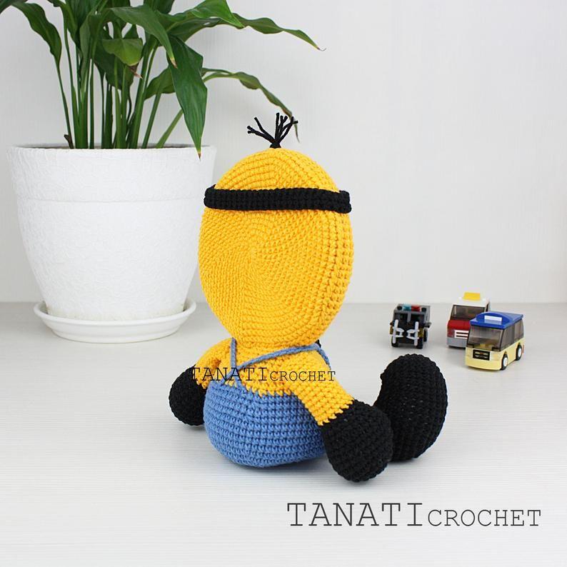 "Patrón de Crochet ""MINION, marco para foto""(Tutorial, archivo PDF) #minioncrochetpatterns"