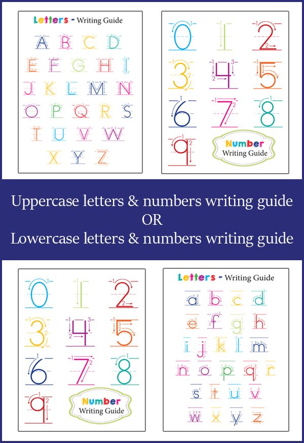 FREE Letter and Number Guide for Preschoolers Number, Child and - Numbers In Writing