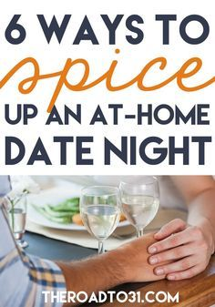 Are you looking for ways to expand your at home date nights to something beyond just sitting and watching a movie? Here are some great ideas and tips! 6 Ways to Spice up your At-Home Date Nights with Your Spouse