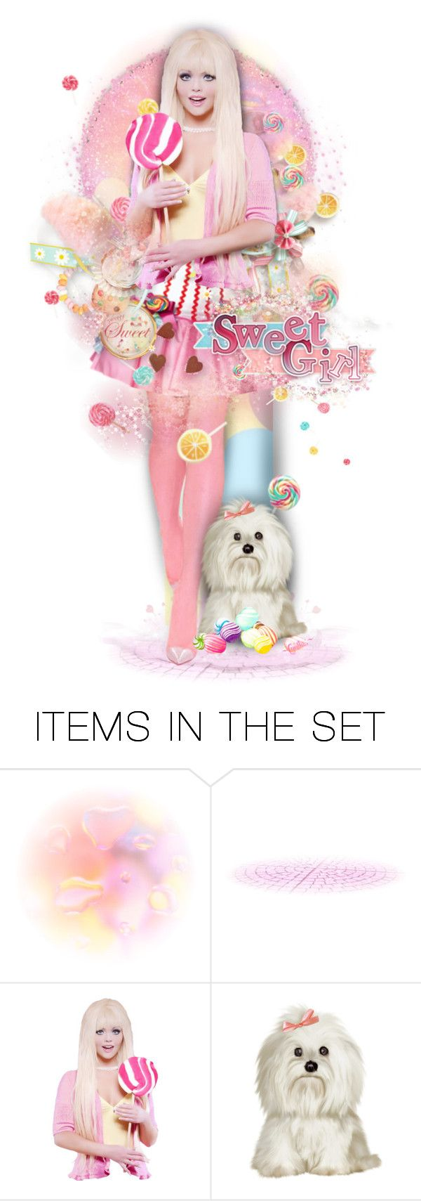 """""""🍭Sweet Girl🍧"""" by cindu12 ❤ liked on Polyvore featuring art"""