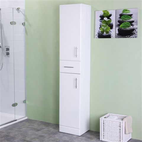 Tall Bathroom Cabinets Available In A Range Of Designs With Oak Wenge White