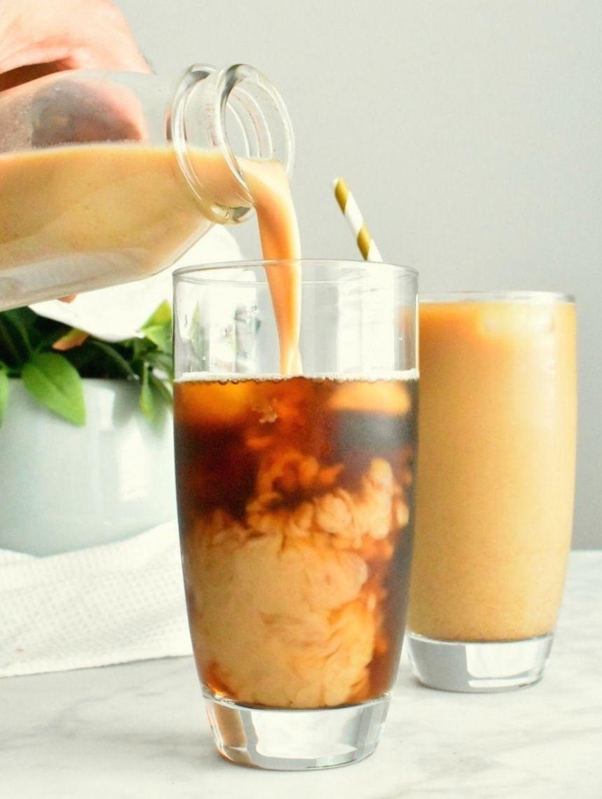 Homemade Pumpkin Cream Cold Brew Coffee - Herbs & Flour