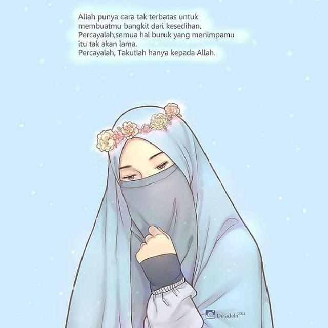 Girl Iphone Hijab Cartoon Wallpaper Novocom Top