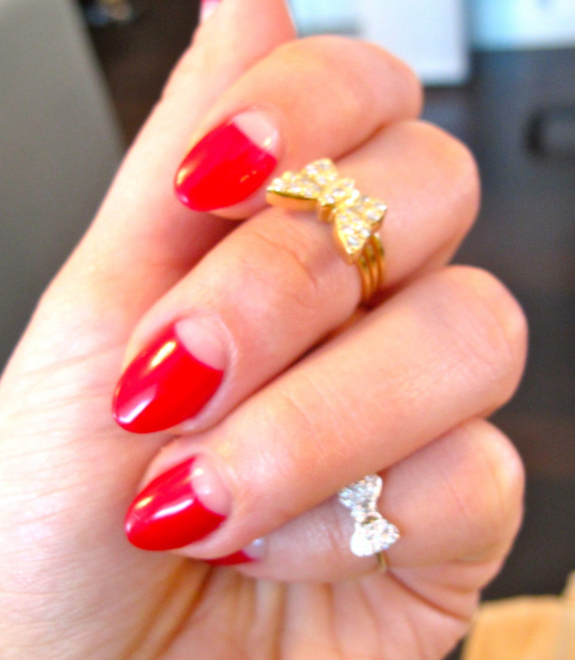 Half moon nails | Beauty | Pinterest | Moon nails, Makeup ...