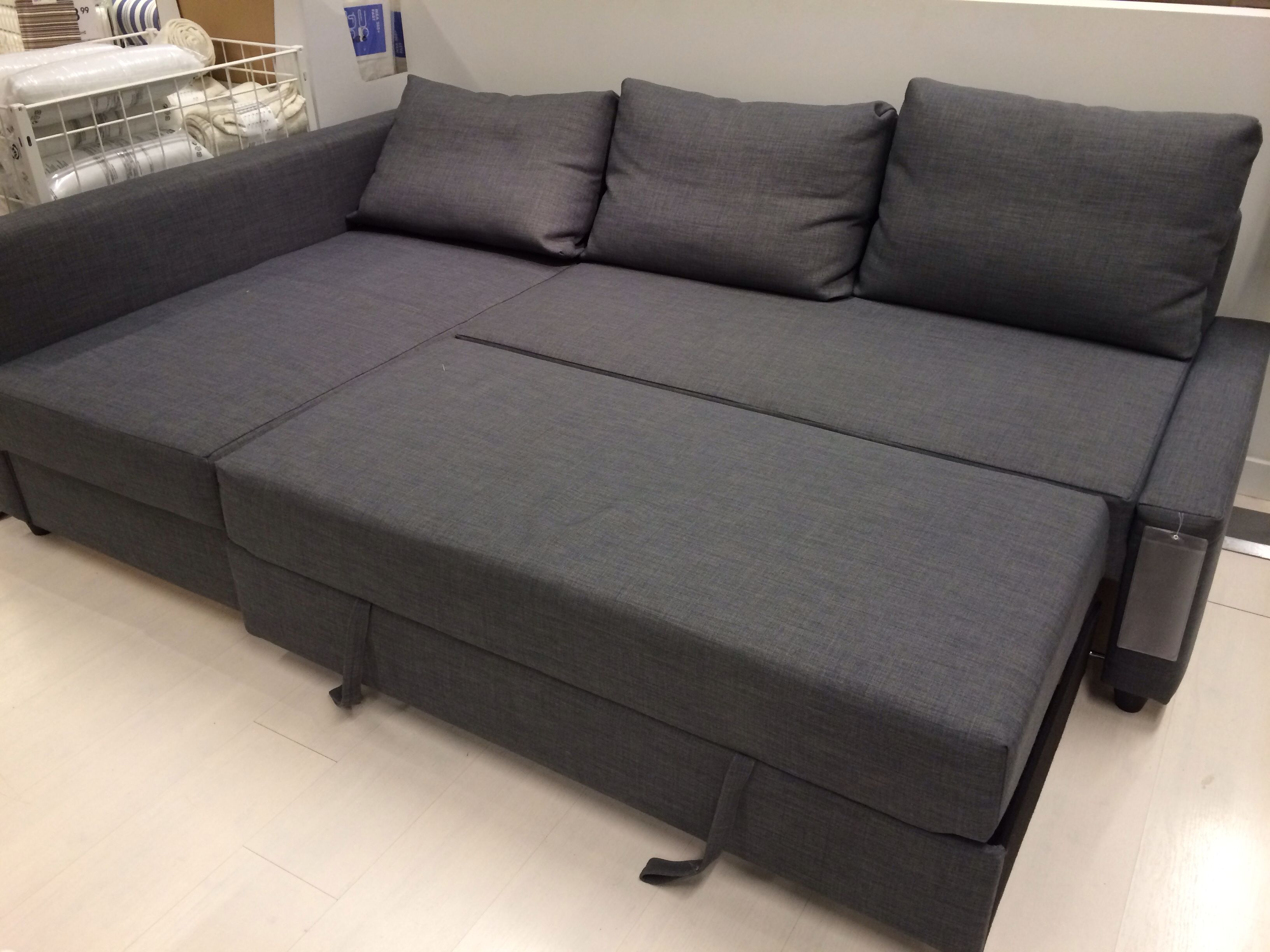 Friheten Corner Sofa Bed Skiftebo Dark Grey Ikea For