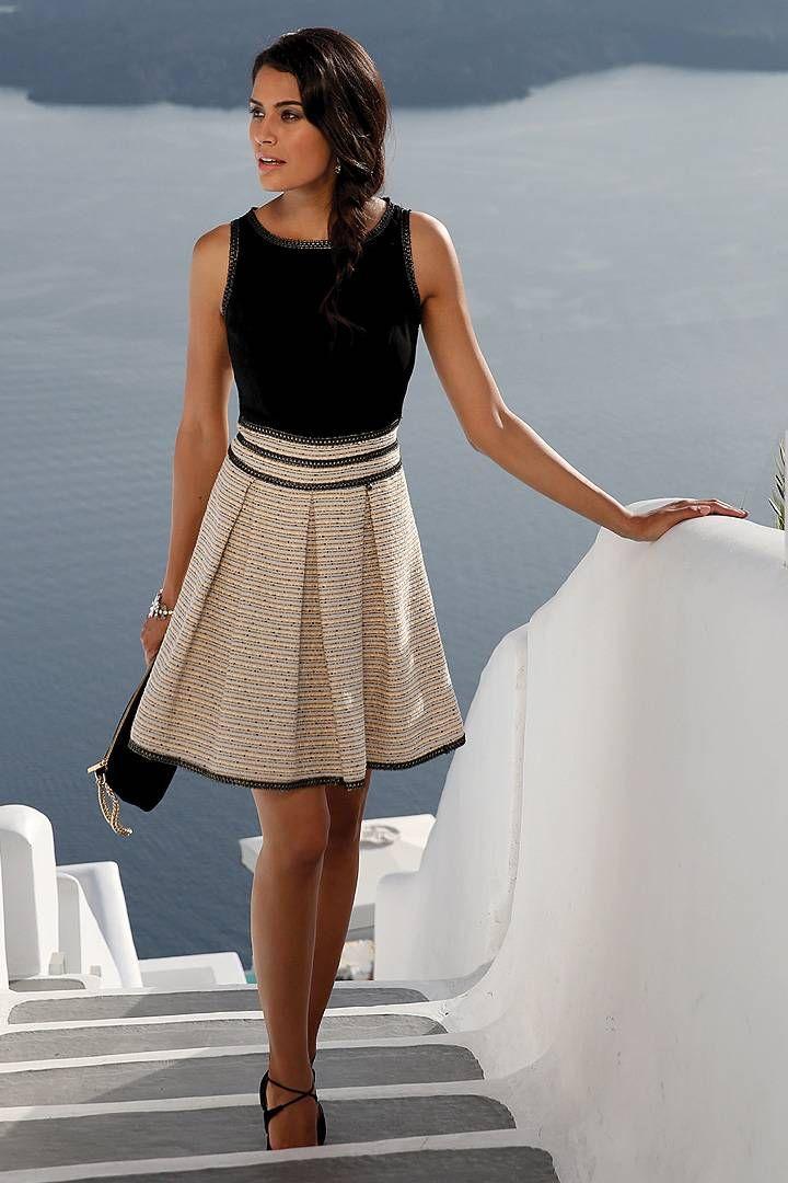 Pastel Jurk Bruiloft.Linea Raffaelli Short Dress With Black Bodice And A Pastel