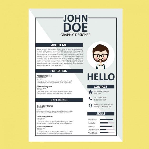 curriculum vitae template free vector resume design resume cv cv design photoshop illustrator