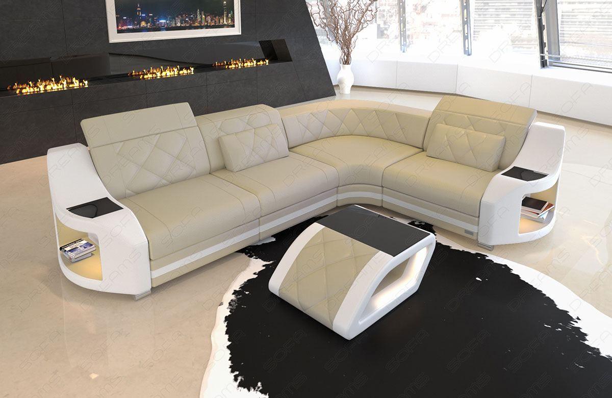 Leather Corner Sofa Columbia L Shape With Led Lighting White Sofa Ideas Of White Sofa Whitesofa Sofa Leather Co In 2020 Leather Corner Sofa Leather Sofa Sofa