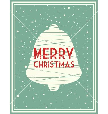 Christmas greeting card with holiday bell vector by mega_spy on