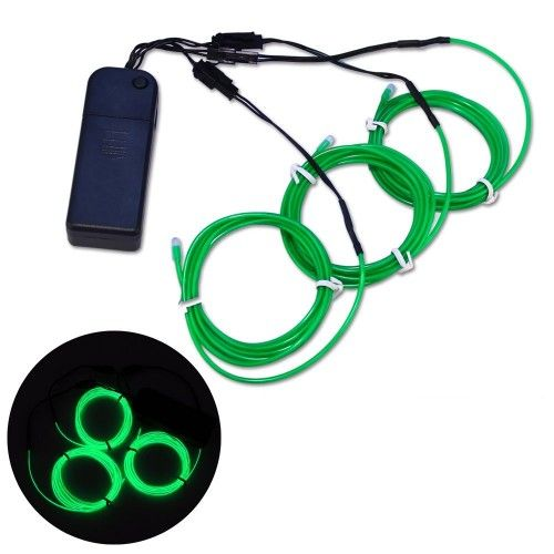 Strobing Green Brand new 3x 1.5 metres Electro Luminescent ...