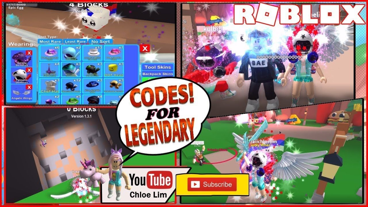 Roblox Mining Simulator! 3 CODES FOR LEGENDARY EGG AND LEGENDARY HAT