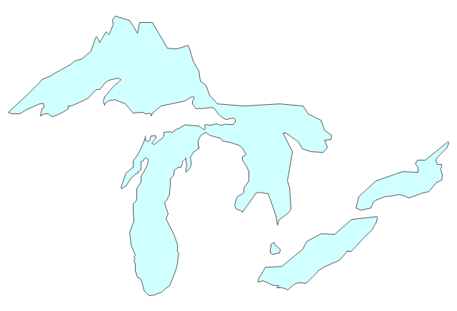 Pict Great Lakes United States Of America Vector Stencils Library Png Diagram Flowchart Example Png 640 436 Cricut Explore Projects Great Lakes Lake