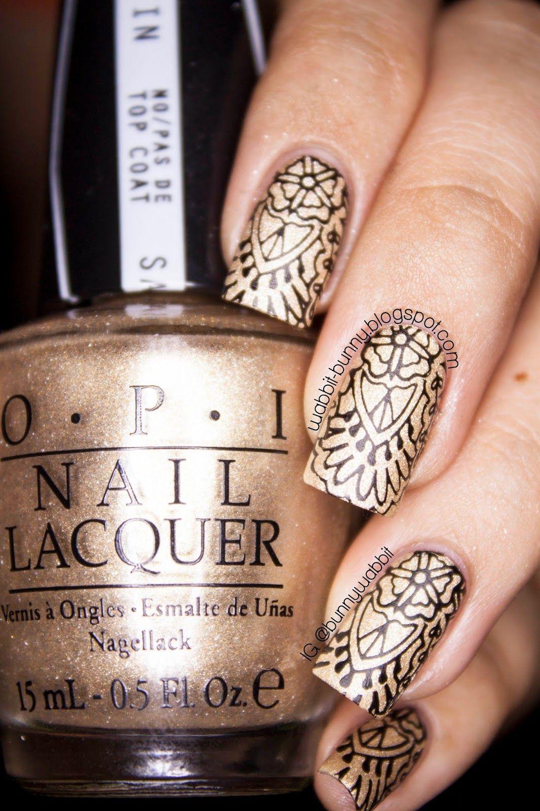 Black over Gold   Pinterest   Japanese nail art, Nail art blog and ...