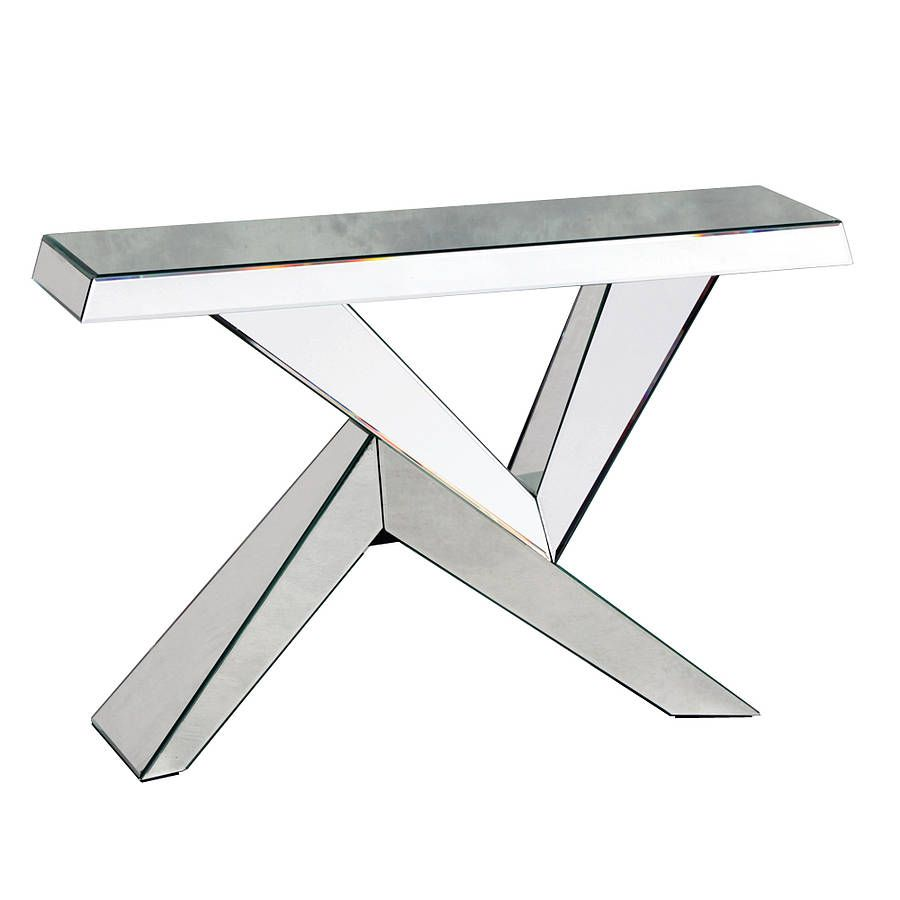 Angular Mirrored Console Table from notonthehighstreet.com