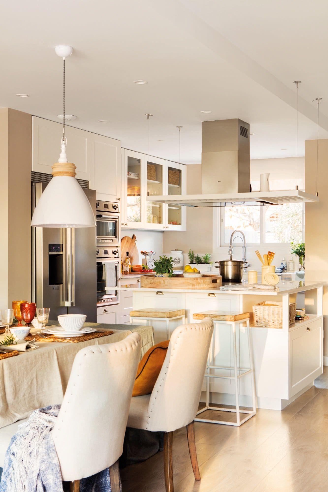 Salon Comedor Y Cocina Abiertos Muy Practicos Cocinas