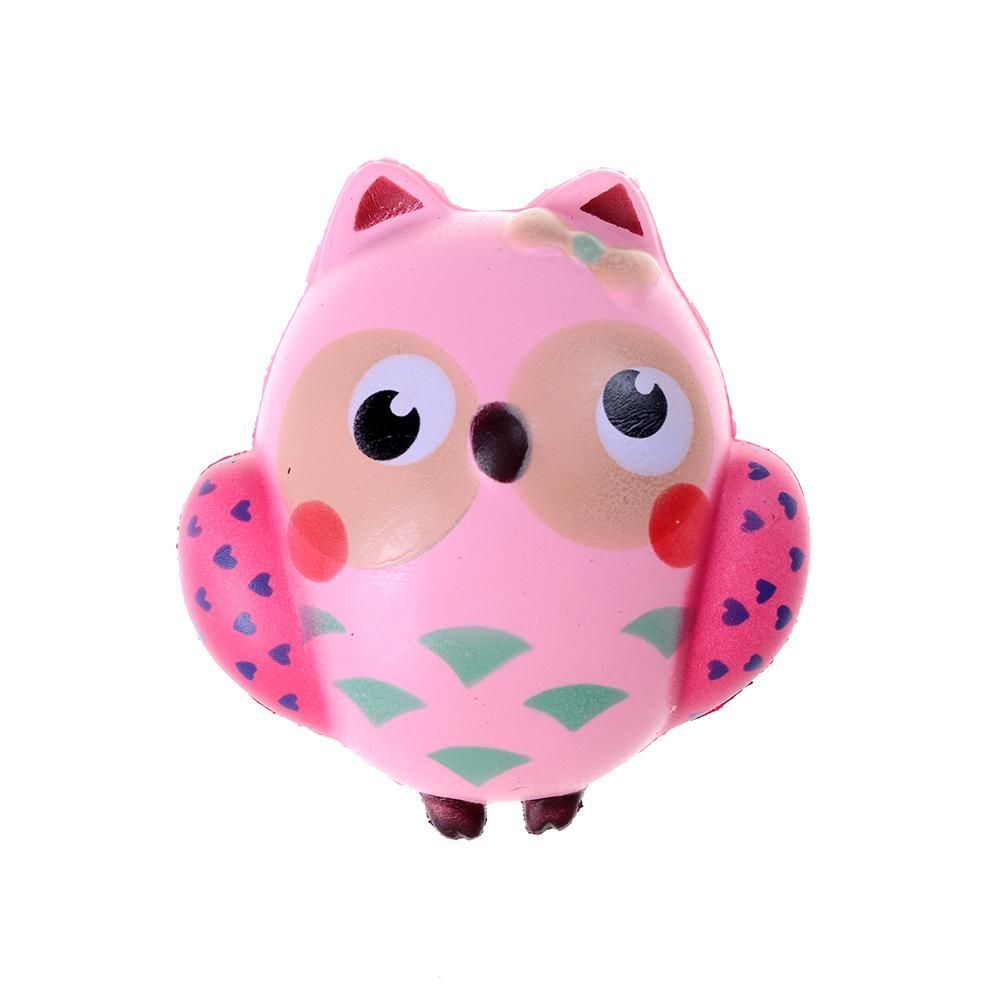 Cute toys images  Hot Squishy Kawaii Cute Pink Owl PU Soft Slow Rising Phone Strap