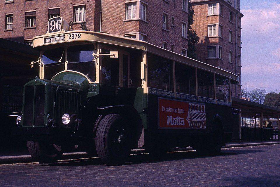 Ligne de Bus 96, Terminus Porte des Lilas, Paris 20ème, 1965