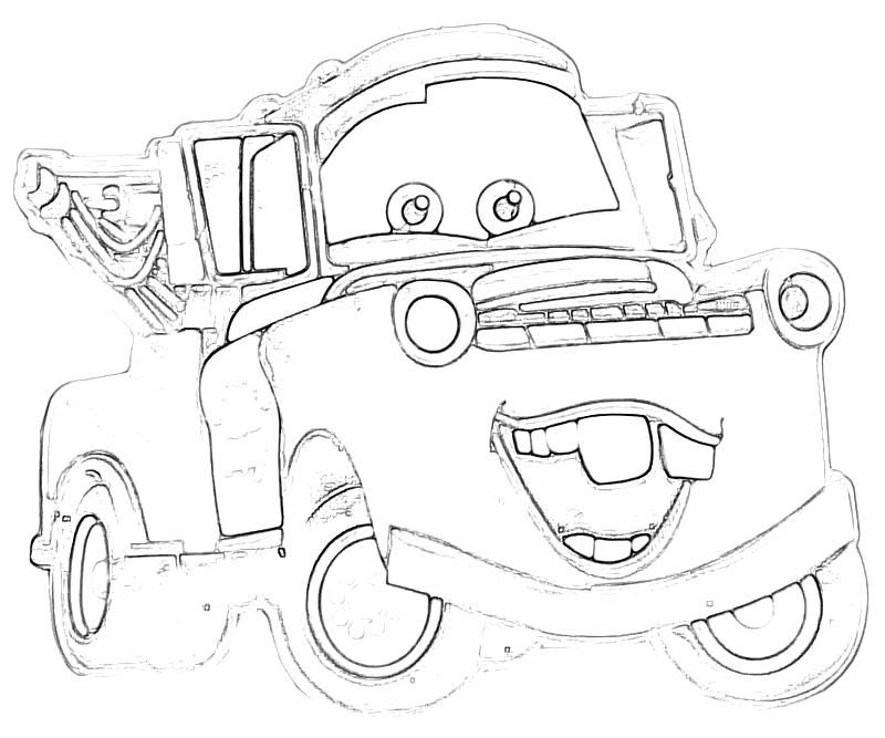 cars tow mater coloring pages coloringpages Pinterest Tow mater