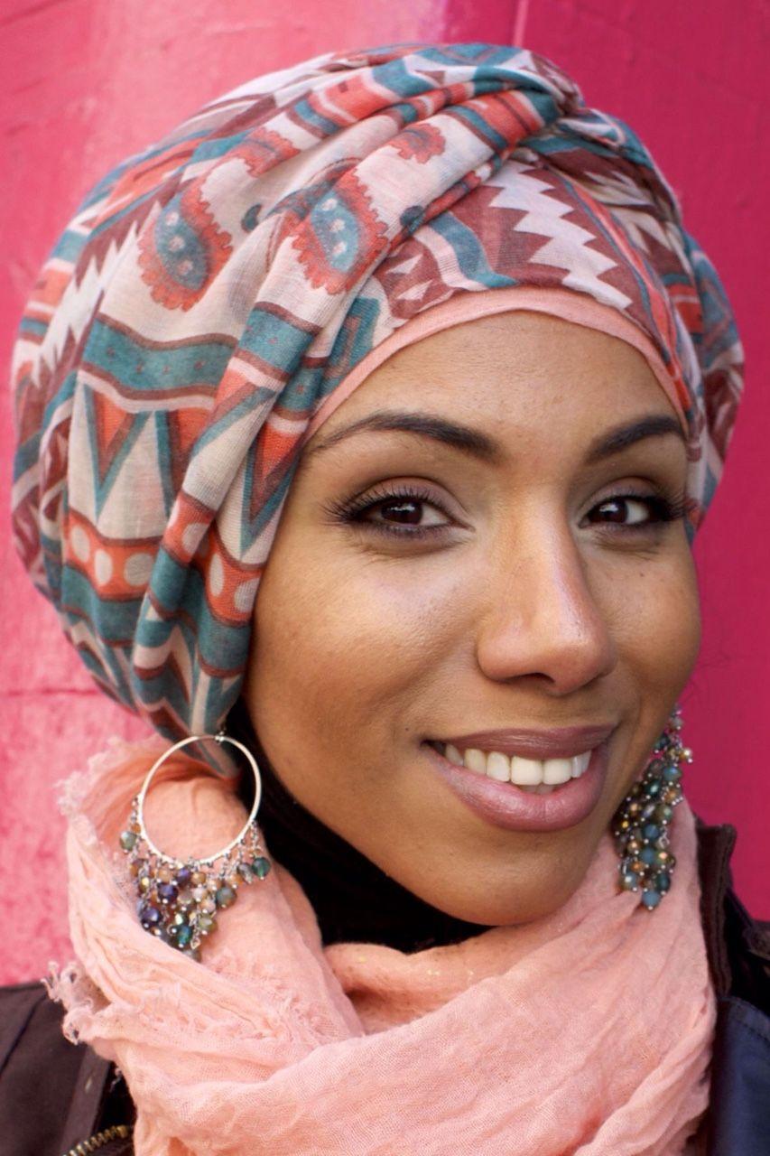 "turbanista: ""Styled Hijab "" | Turban style, African head wraps, Scarf hairstyles"