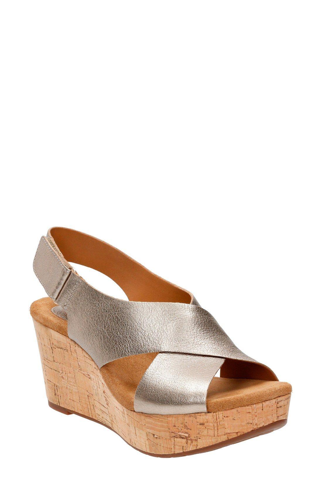 Clarks® 'Caslynn Shae' Wedge Sandal