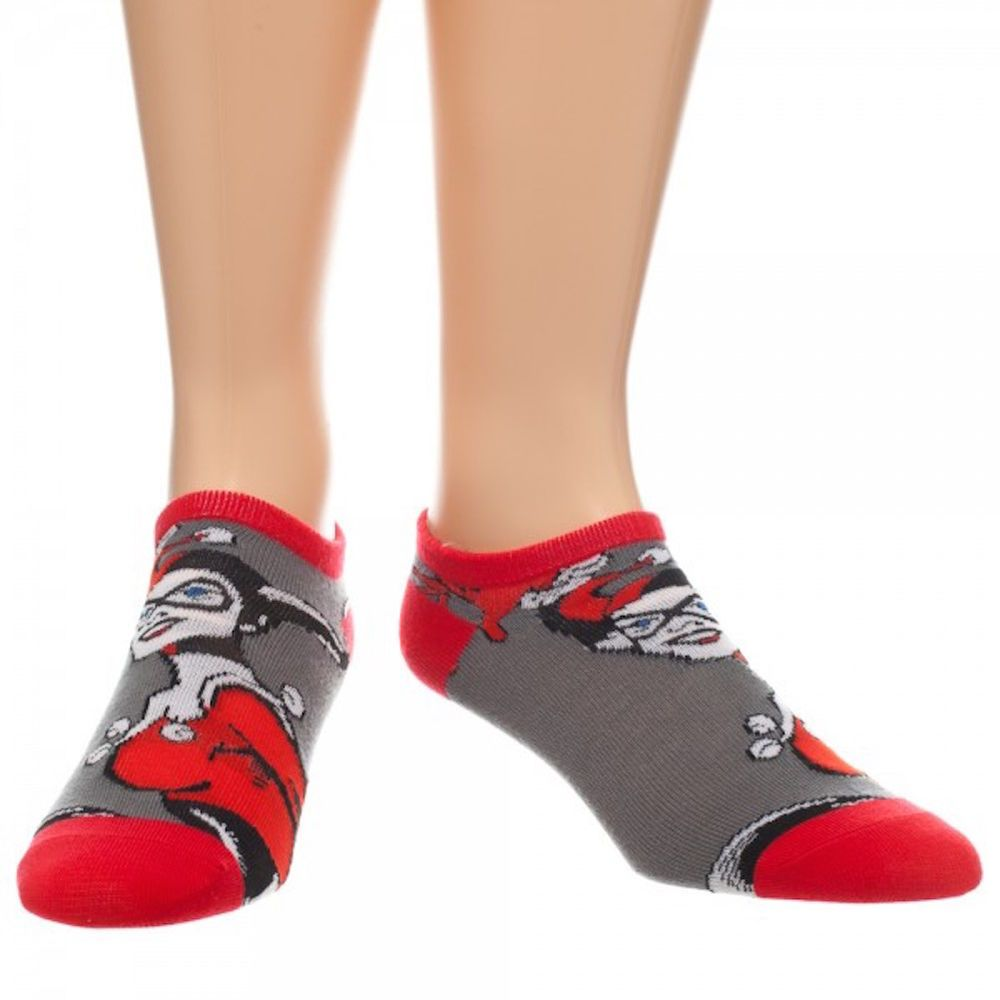 e58799254f08e DC Comics Harley Quinn Action Character Ankle Pedi Socks New Licensed NWT