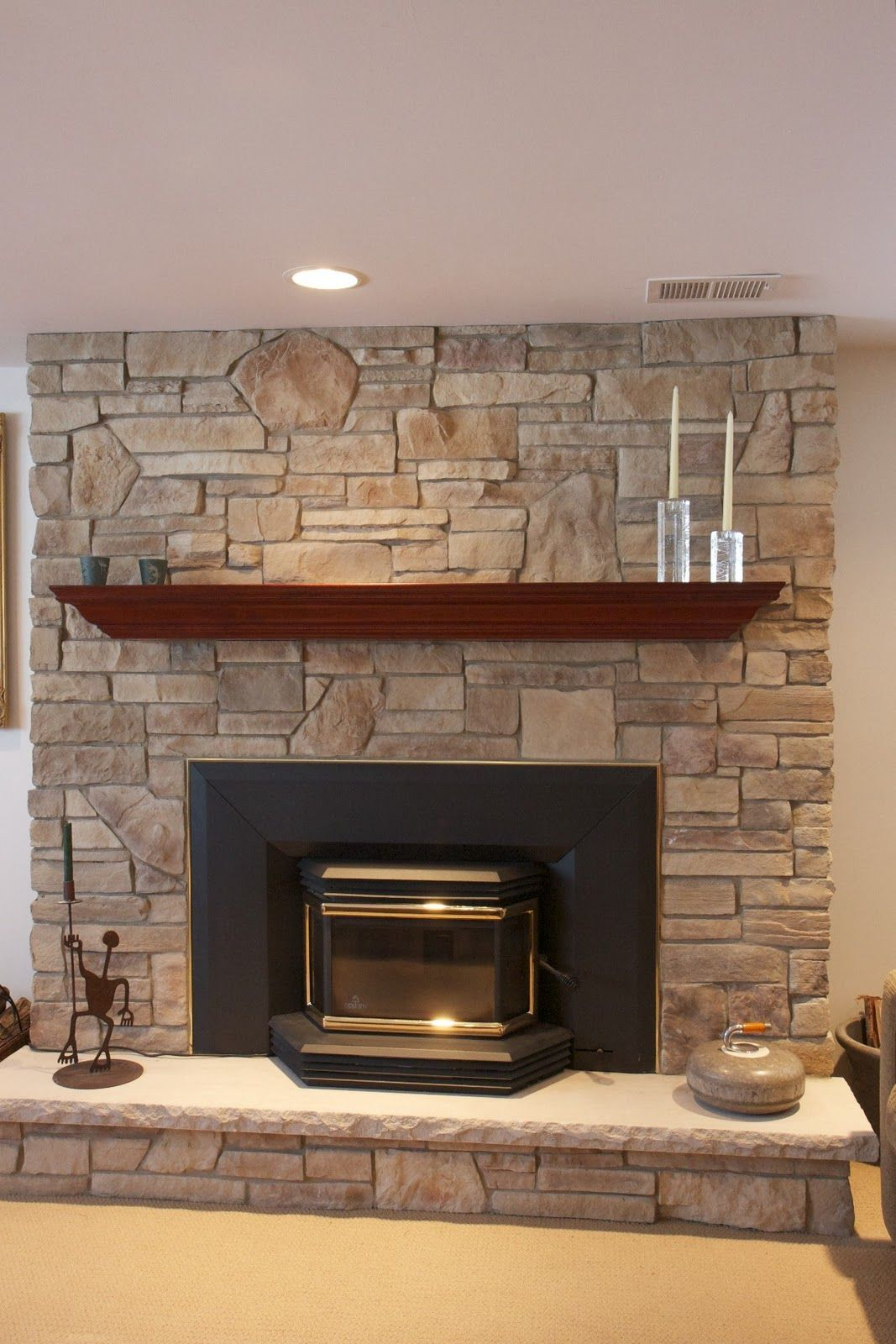 Stone Fireplace Picture And Design Stone Fireplace Designs