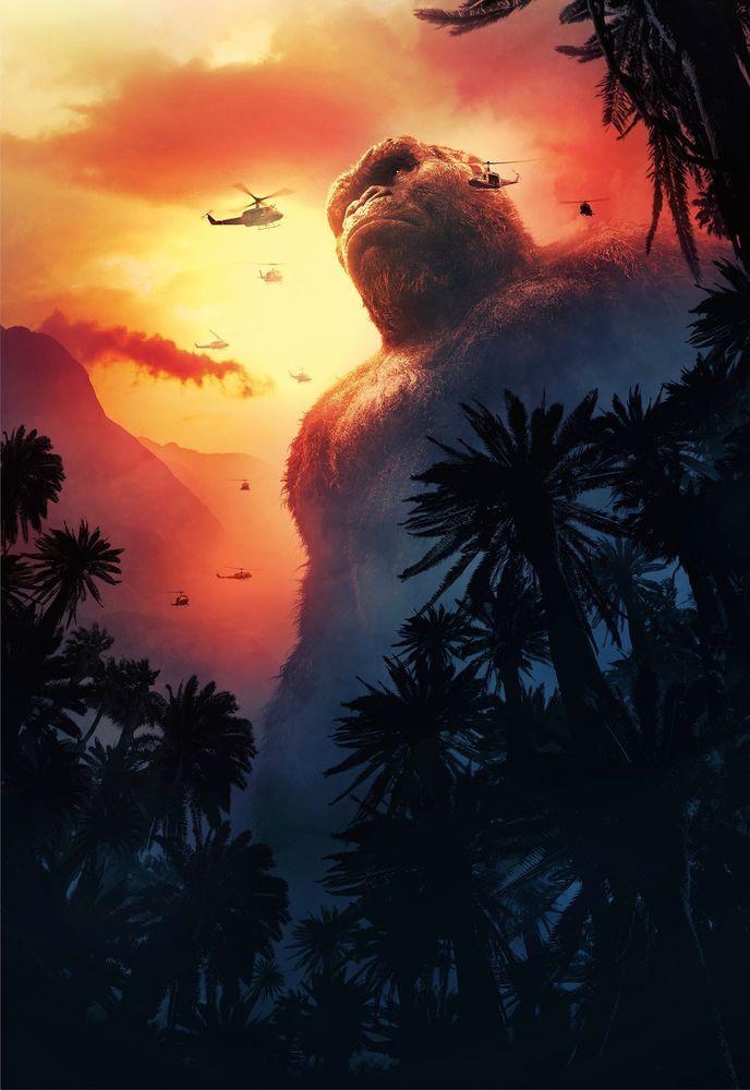 Kong Skull Island Hi Res Movie Poster Sky High Tx Key Art King Kong Fantastic Movie Der Joker